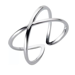 Sterling Silver 925 Cross Stacking Ring Size 5